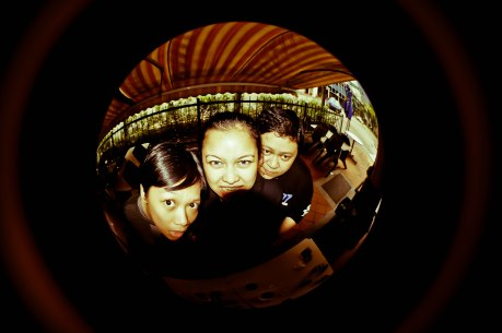 Photo by: Jawo Bolivar | From left: Karla Pundaodaya (drums/vocals), Beatrix Alcala (vocals/guitars/synth) & Vhop Pascua (bass)