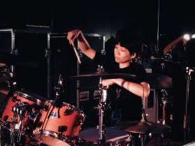 Karla Pundaodaya (Drums) © Syamirah Juli, Atmos Tropos 3.0 @ Analog Factory, July 2016)